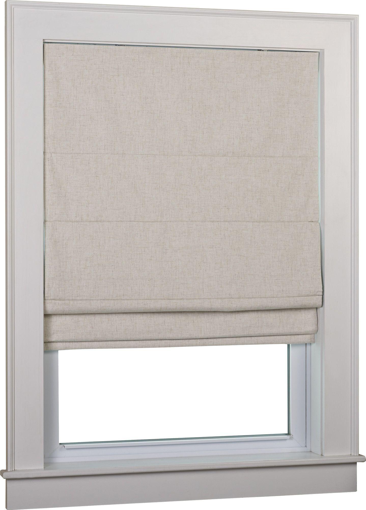 Blackout Bedroom Blinds Brilliant Huntington Linen Cordless Thermal Backed Roman Shade W Blackout Decorating Design