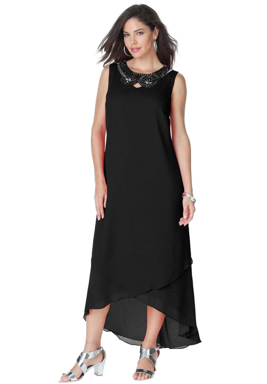 b8c9f76488 Plus Size Embellished Maxi Dress | Comfy/Pretty Plus Size Clothes ...