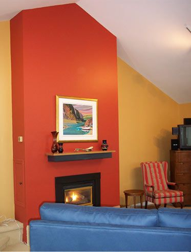 Different colored wall for fireplace! | Fireplace ...