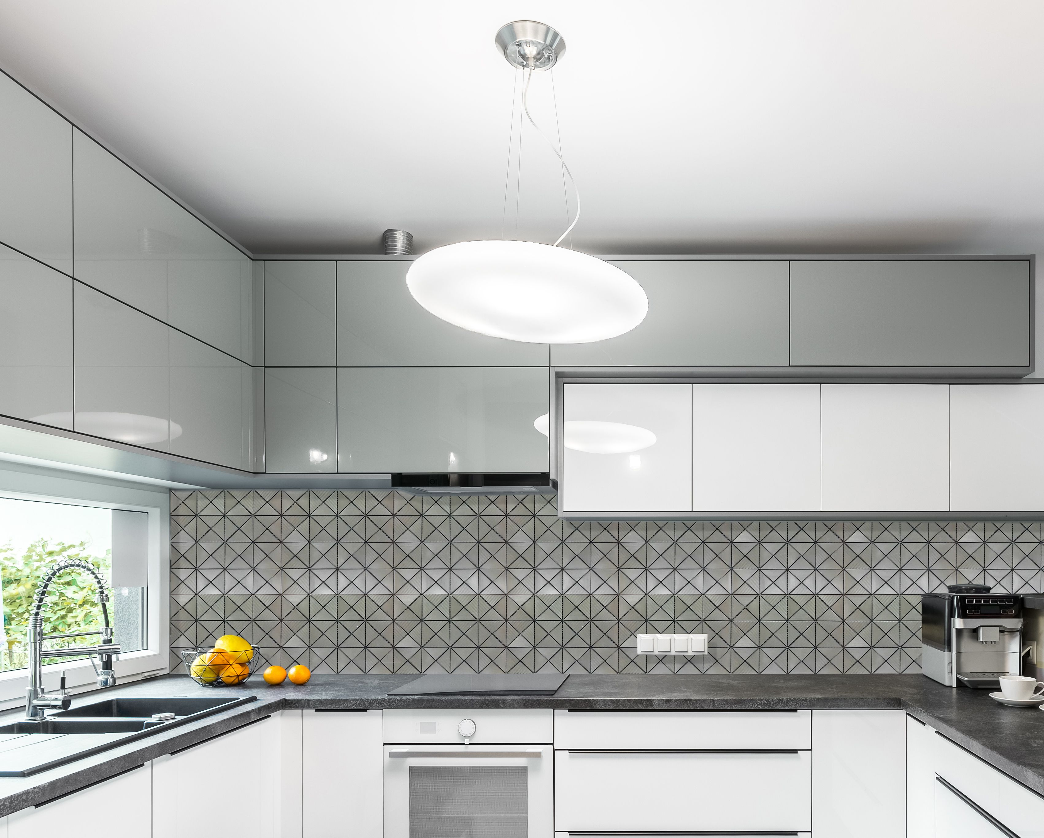 Brushed Nickel Tile Prisma from our collection is used for