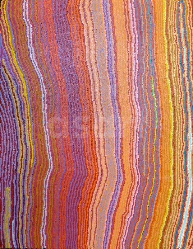 Mary Anne Nampijinpa Michaels / Lappi Lappi Jukurrpa (Lappi Lappi Dreaming) 2011…