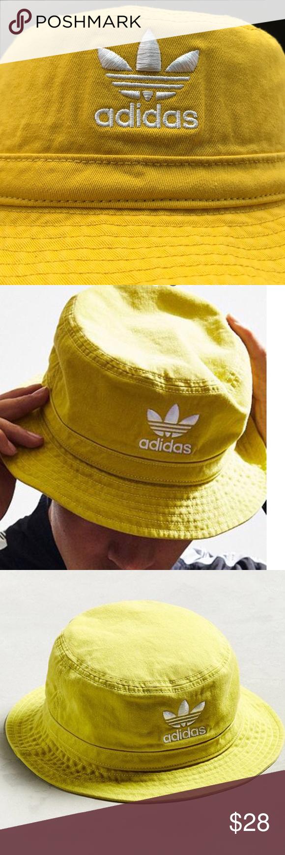 Nwt Adidas Yellow Bucket Hat Yellow Bucket Hat White Adidas Adidas