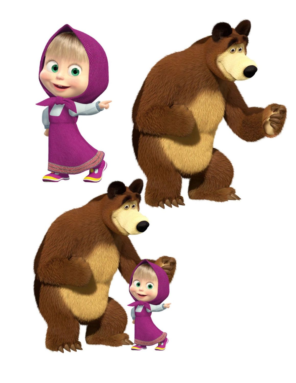 Foto Marsha And The Bear : marsha, Masha, Image,, Cutout,, Template,Large, Bear,TV, Cartoon, Cutout, Bear,, Images,