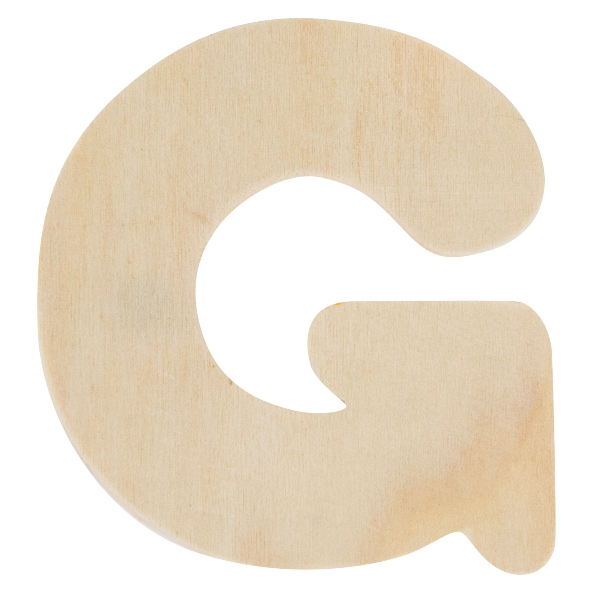 Creatify Wooden Letter G 3 X Brown