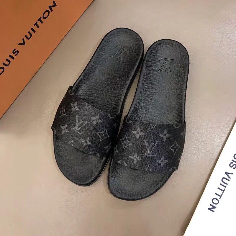 254a4cd83885fa Louis Vuitton lv man slippers slides Louis Vuitton Slides