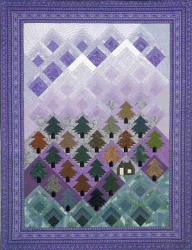 Chugach Pines Pattern Quilts Log Cabin Quilt Pattern