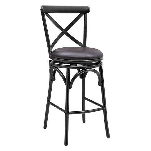 Admirable Baker Distressed Antique Black Metal Swivel Barstool Black Dailytribune Chair Design For Home Dailytribuneorg
