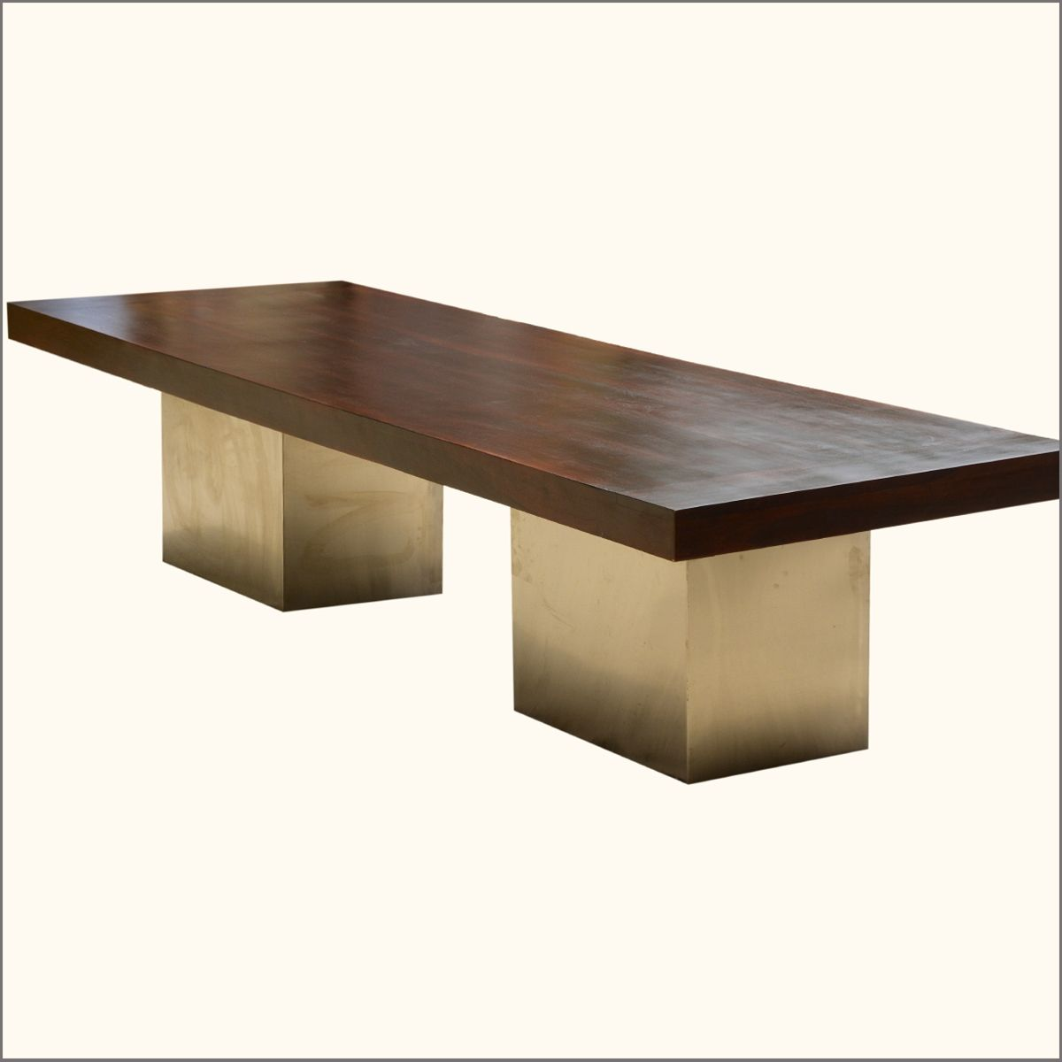Sierra Large Solid Wood Sutton Pedestal Modern Dining Table - Large wooden conference table