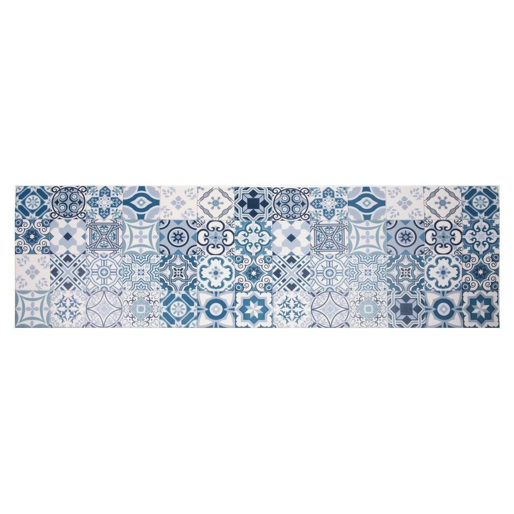 vinyl teppich mit zementfliesen motiven