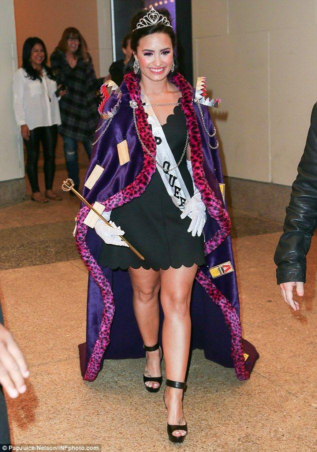 Demi Lovato Channels Inner Prom Queen Iny Fancy Dress Costume