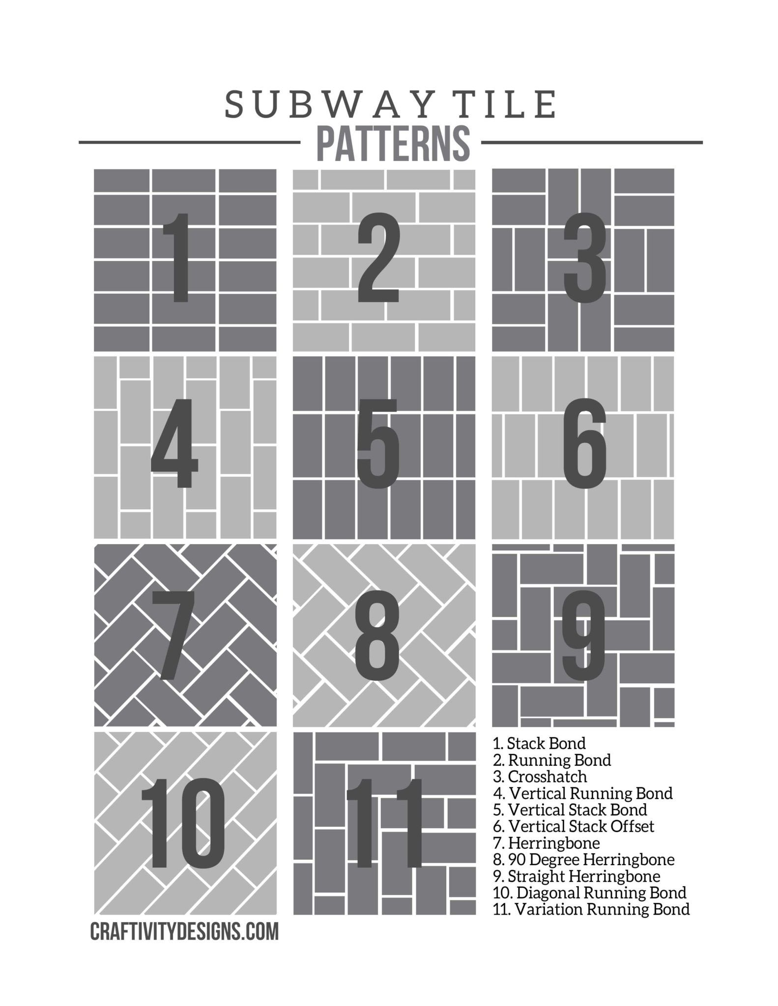 50 subway tile ideas free tile pattern template diy - Free online bathroom design templates ...