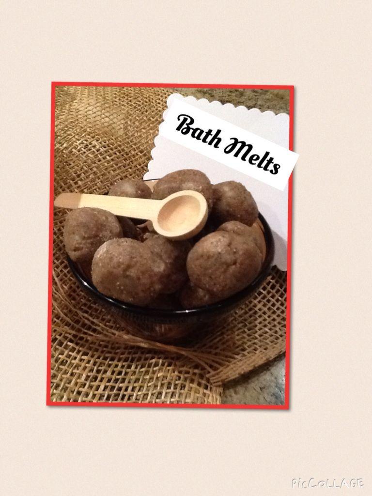 Coconut oil, ground coffee, ground oatmeal and baking soda, bath ...