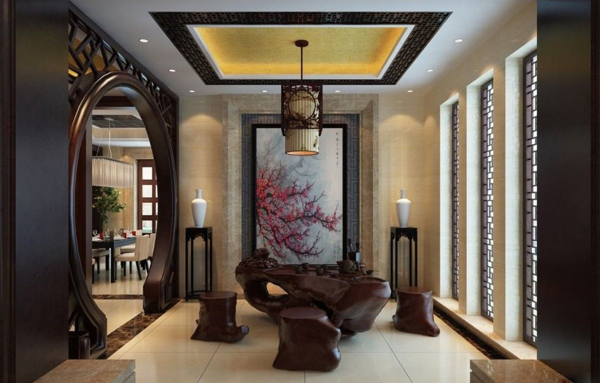 Chinese style images chinese style tea room interior for Asian architecture house design