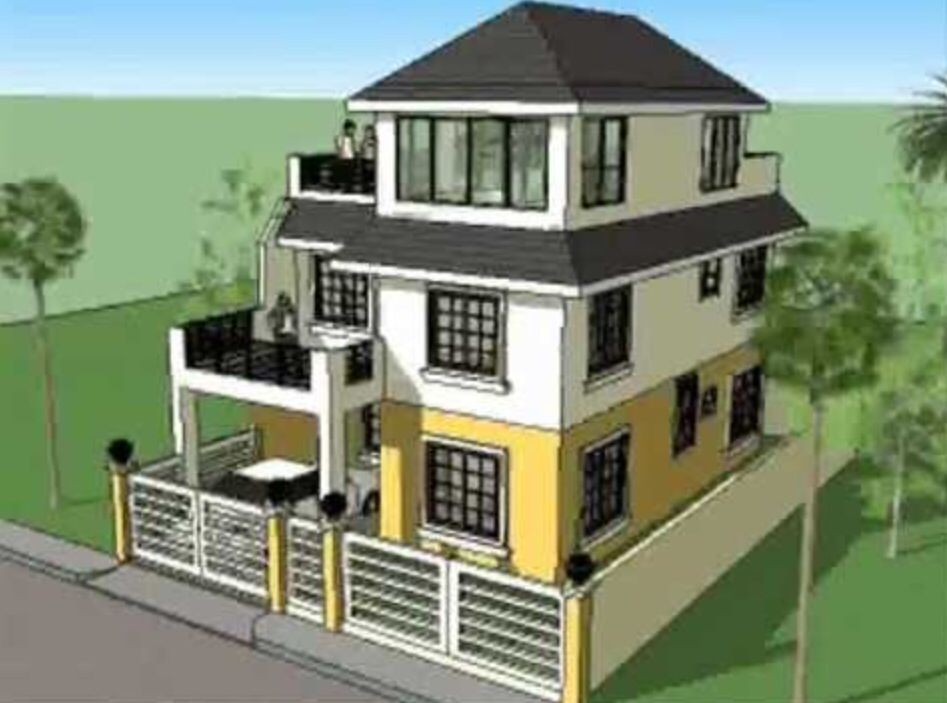 3 Stories With Carport And Terraced Decks 3 Storey House Design Model House Plan 2 Storey House Design