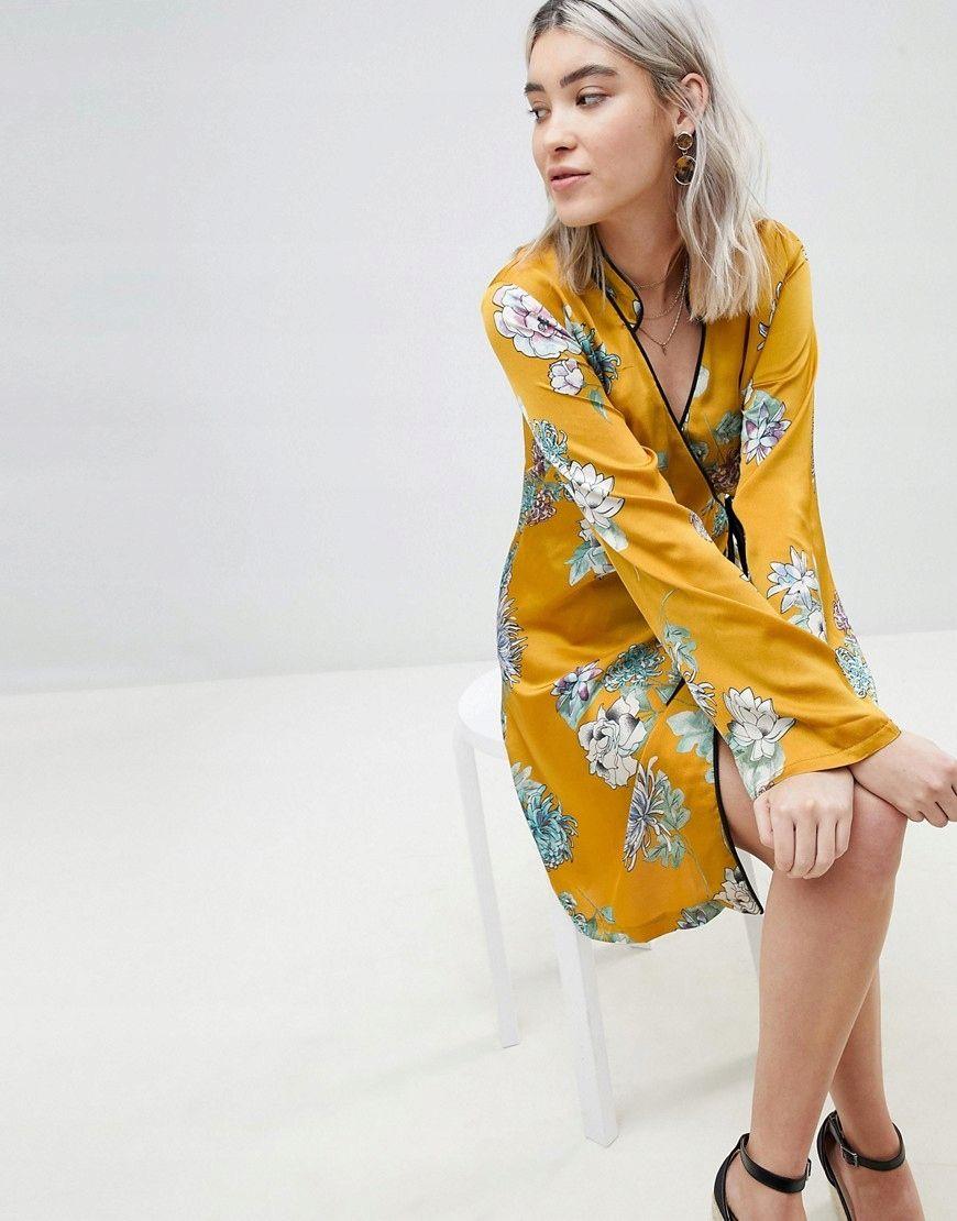 115c01236 Boohoo Sukienka Kimono 34 7666978207 Oficjalne Archiwum Allegro Kimono Sleeve Kimono Sleeve Dress Trending Dresses