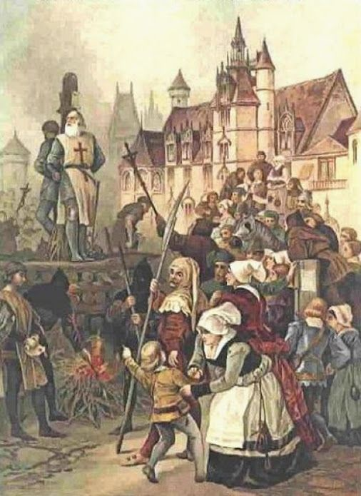 18 March 1314, Jacques de Molay, last Grand Master of the Knights Templar, was burned at the stake in front of Notre Dames in Paris, marking the end of the Poor Fellow-Soldiers of Christ and of the Temple of Solomon.