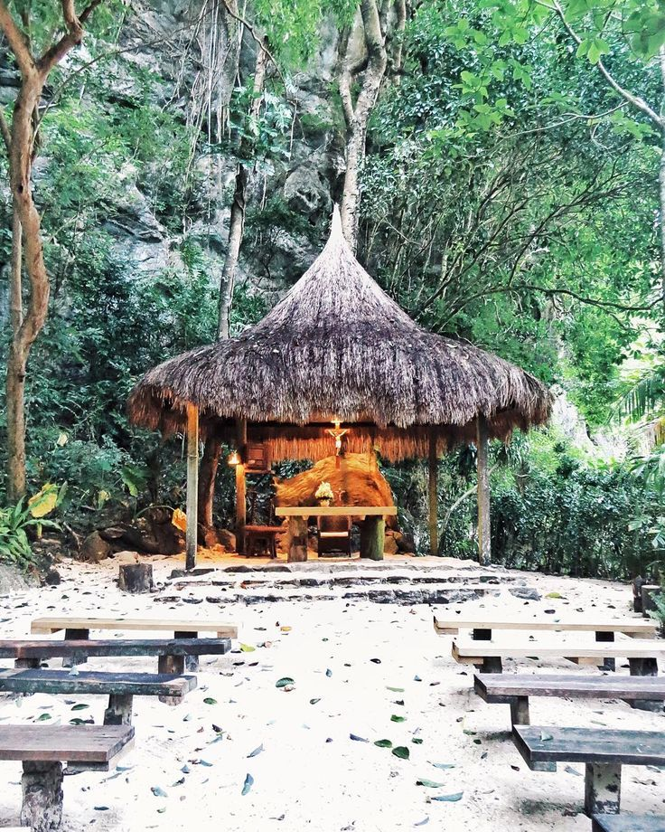 The jungle chapel at the Lagen Island Resort in the Philippines is perfect for a destination wedding.