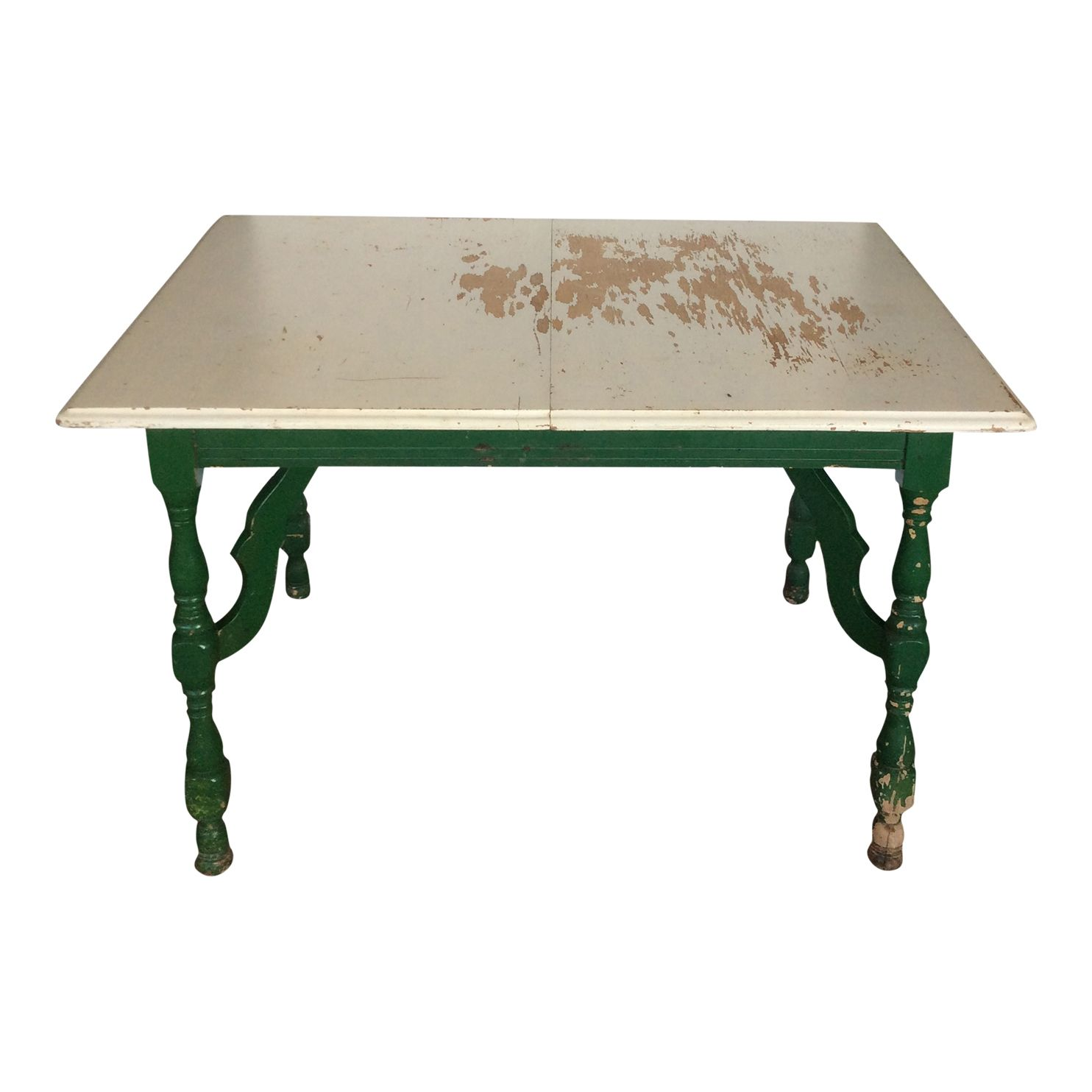 Green Table, Vintage Dishware, Table