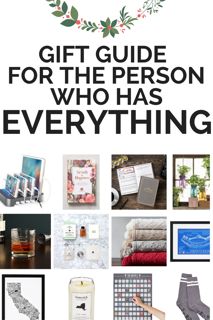 Gift Guide For The Person Who Has Everything Birthday Gifts Boyfriend Diy Cheap
