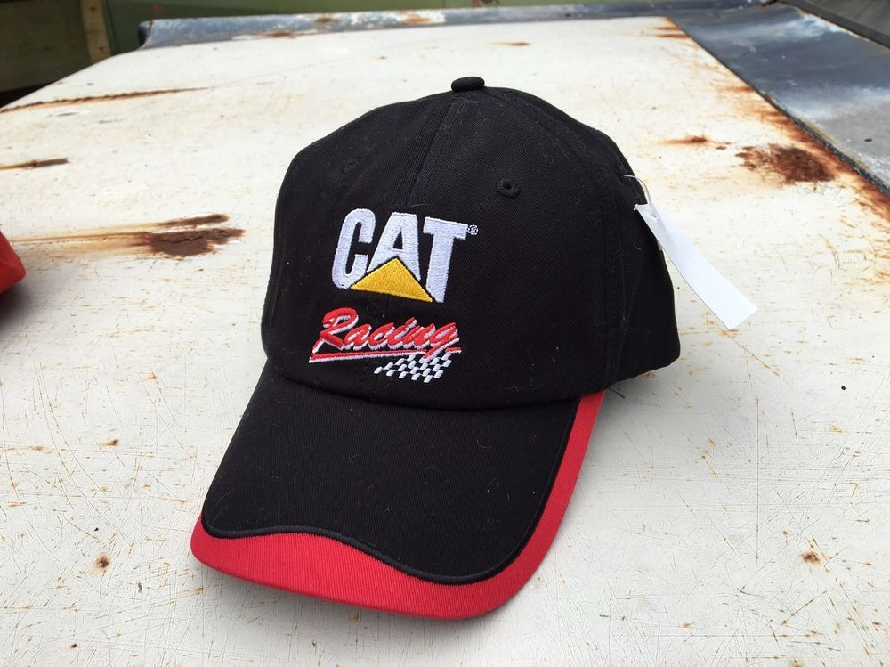 This is a listing for the CAT Racing baseball cap. Hat is new, never worn with its tag. Caterpillar official product. Nice quality. Black with a wave of red on the bill of hat. Great for any working man's hat collection. Unique design for a popular company. As always&#x3b; please view all photos closely and as all questions before hitting the buy it now. If you enjoy this item, check out my other listings! | eBay!