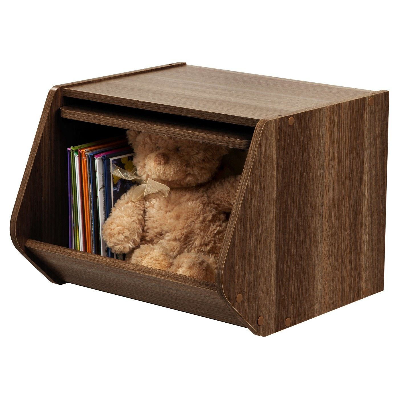 Iris Stacking Storage Box With Door Image 2 Of 5