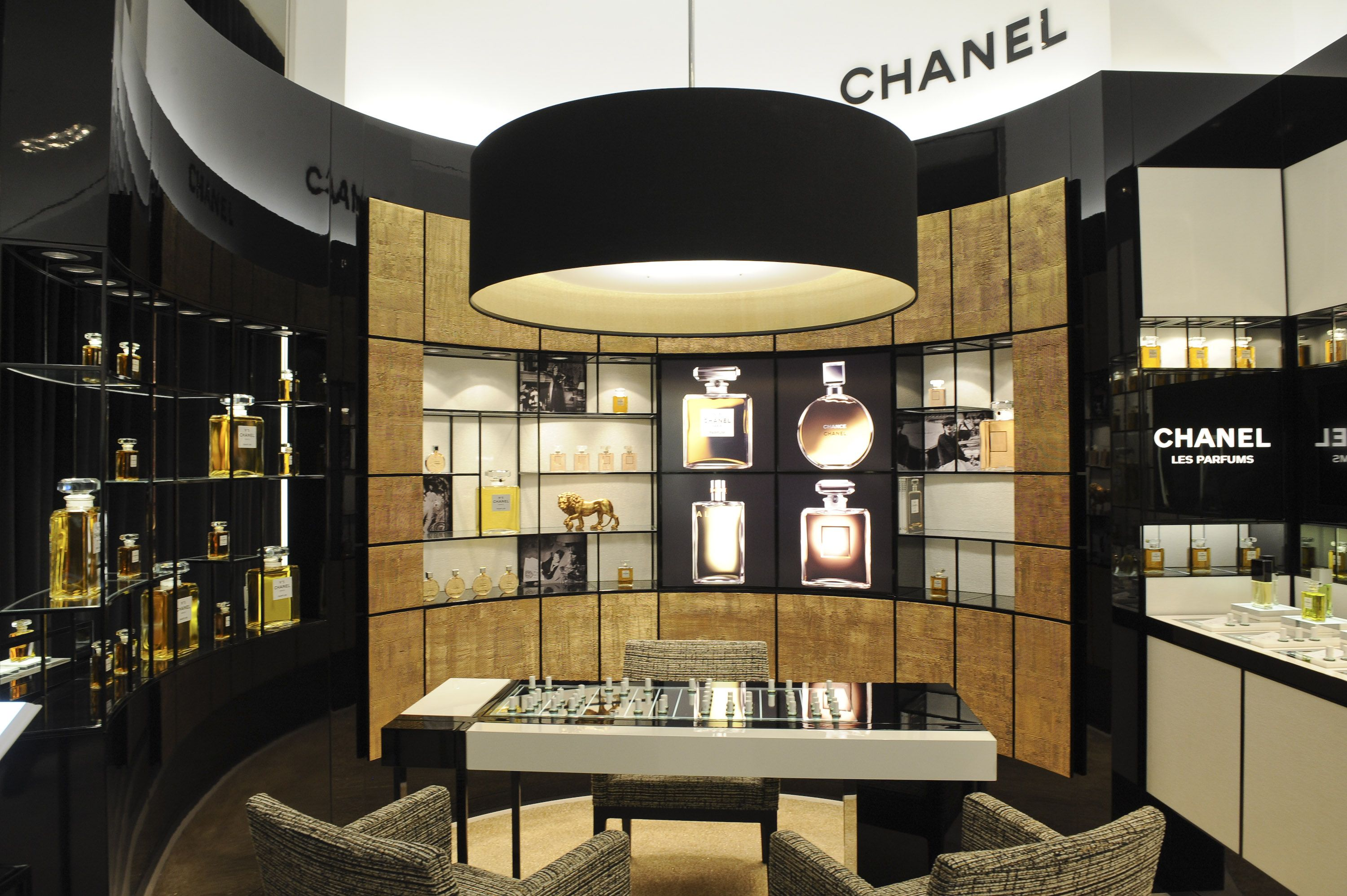 When I Run Chanel With Images Perfume Display