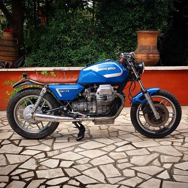 Motor Guzzi Cafe Racer In Light Blue