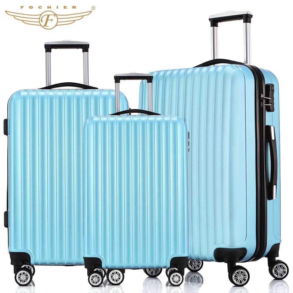 NEW 3 Piece Hardside Travel Luggage Suitcase 20 24 28 Rolling ...