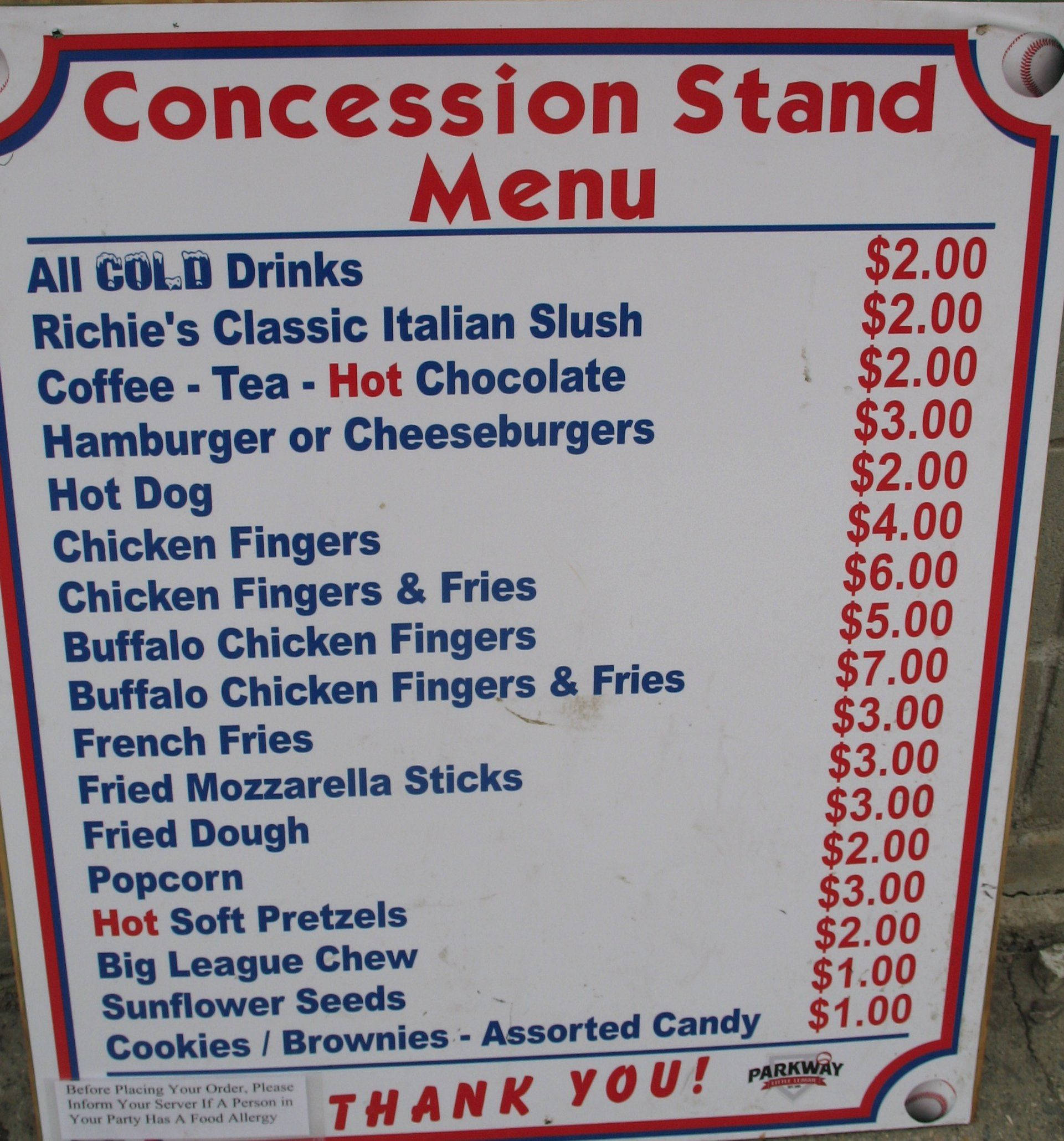 Concession stand menu template in 2020 concession stand