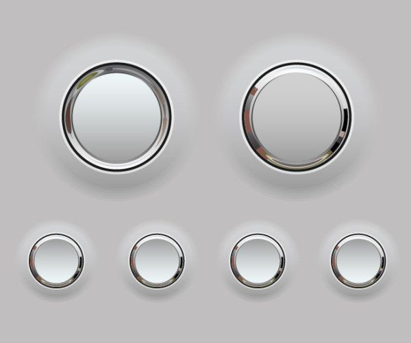 Plastic And Chrome Button Ui Inspirations Web And Ui