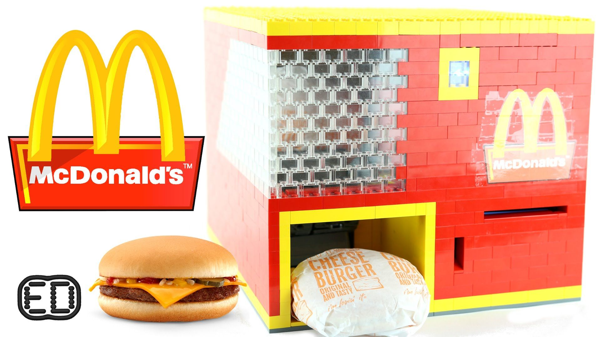 This All New Homemade Lego Mcdonalds Cheeseburger Machine Features Dollar Bill Detection And A Rail Dispensing Syst Lego Candy Machine Lego Mcdonalds Mcdonalds