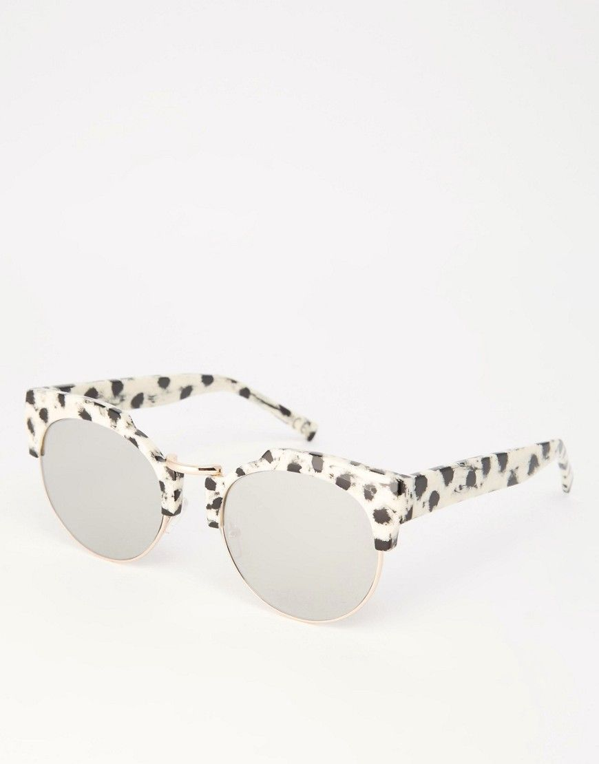03c307140be1 ASOS Round Sunglasses In CP With High Nose And Flat Lens