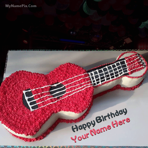 Guitar Birthday Cake With Name Stuff to Buy Pinterest Guitar