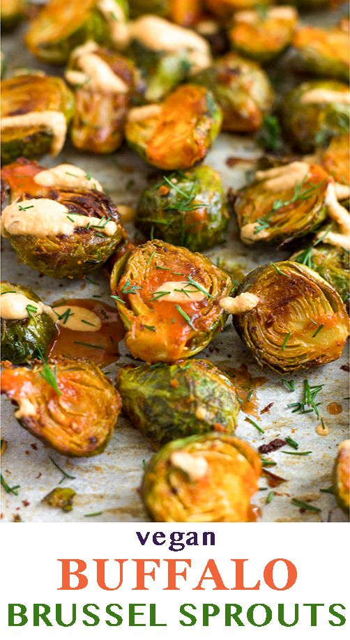 Buffalo Brussel Sprouts (Vegan/Whole30) #buffalobrusselsprouts