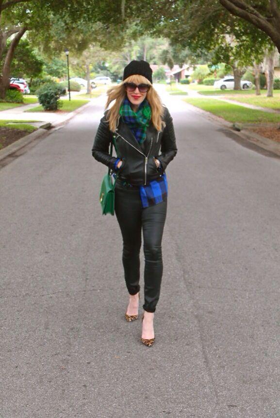 #jenknowsbest #jenandrews #plaid #tartan #leather #leopard @StyleCaster @Lucky Magazine @Madewell @· ZARA · #christianlouboutin #celine #streetstyle #style #blog #blogger #fashionblogger www.jenknowsbest.com