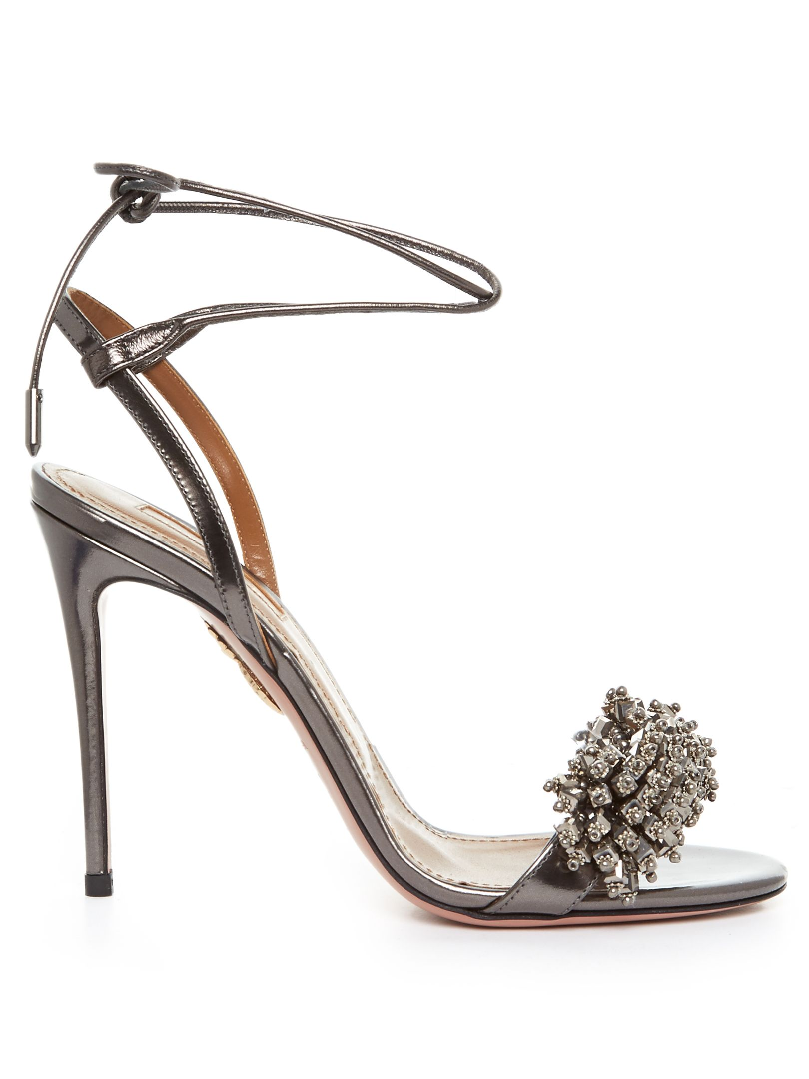 Aquazzura Embellished Leather Sandals sneakernews for sale view cheap online original cheap price YLlt8