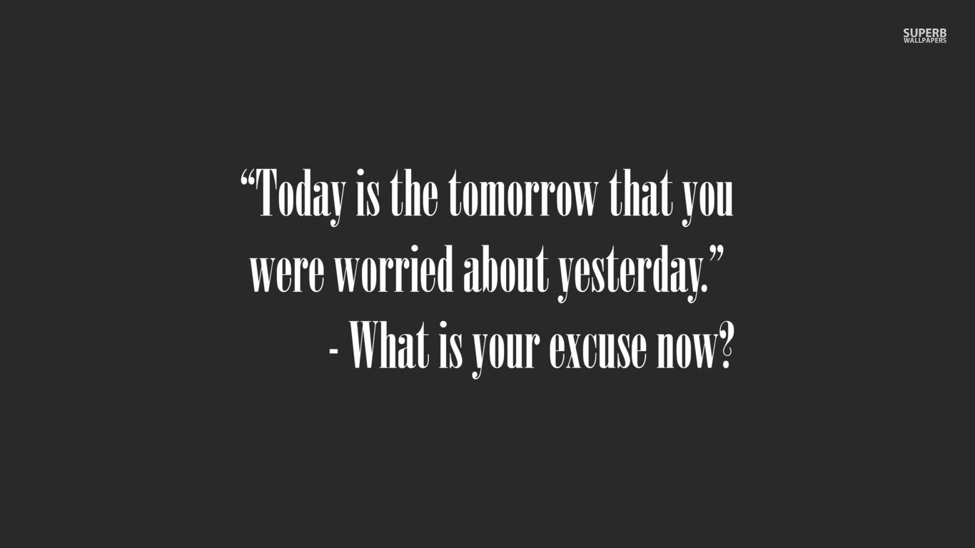 Today vs tomorrow wallpaper  Tomorrow quotes, Words of