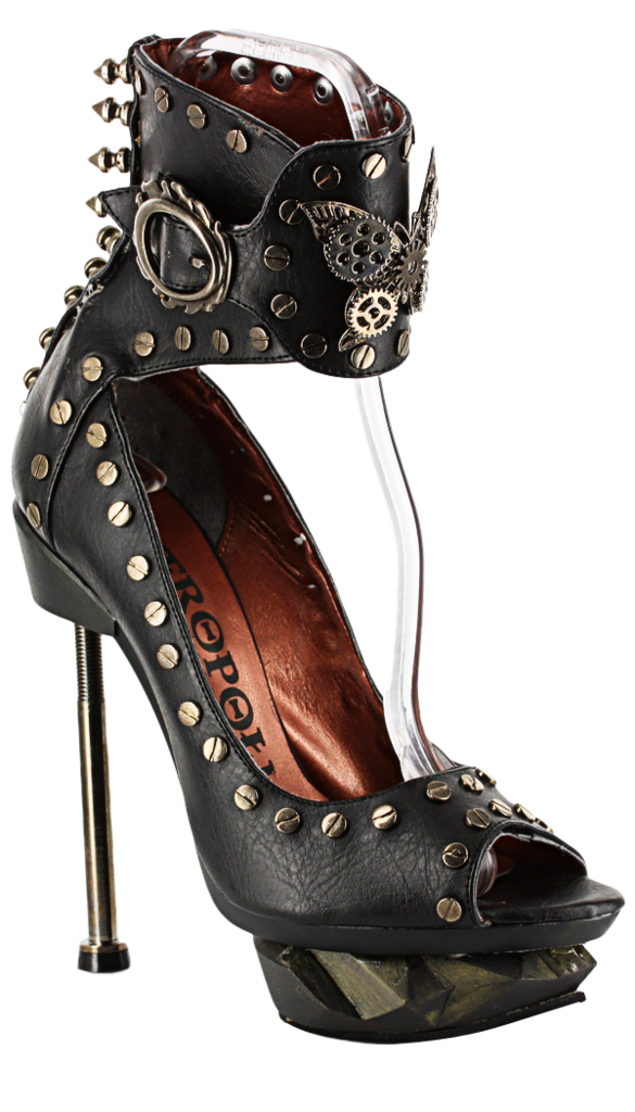 Steam Machine - Black in 2019 | Steampunk | Steampunk shoes