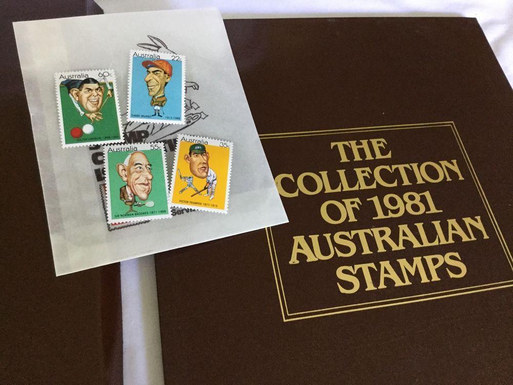 Collection 1981 australian stamps album vintage philately