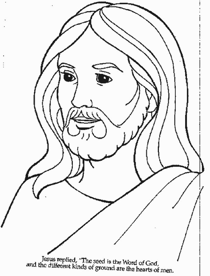 photograph regarding Free Printable Jesus Coloring Pages known as Absolutely free Printable Jesus Coloring Internet pages For Children JESUS Jesus