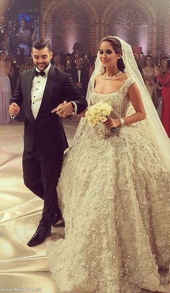 Lana El Sahely In A Legendary Wedding Dress By Elie Saab Fashion