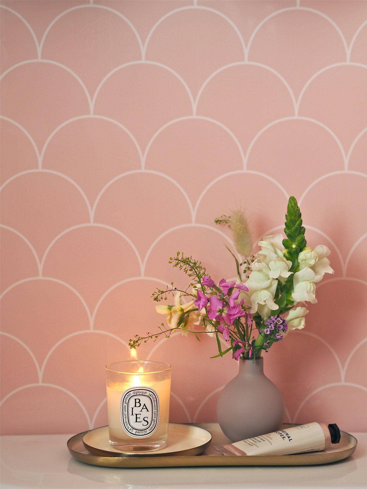Photo of Scalloped Pink Showerwall Panel En-Suite Reveal!! — MELANIE LISSACK INTERIORS