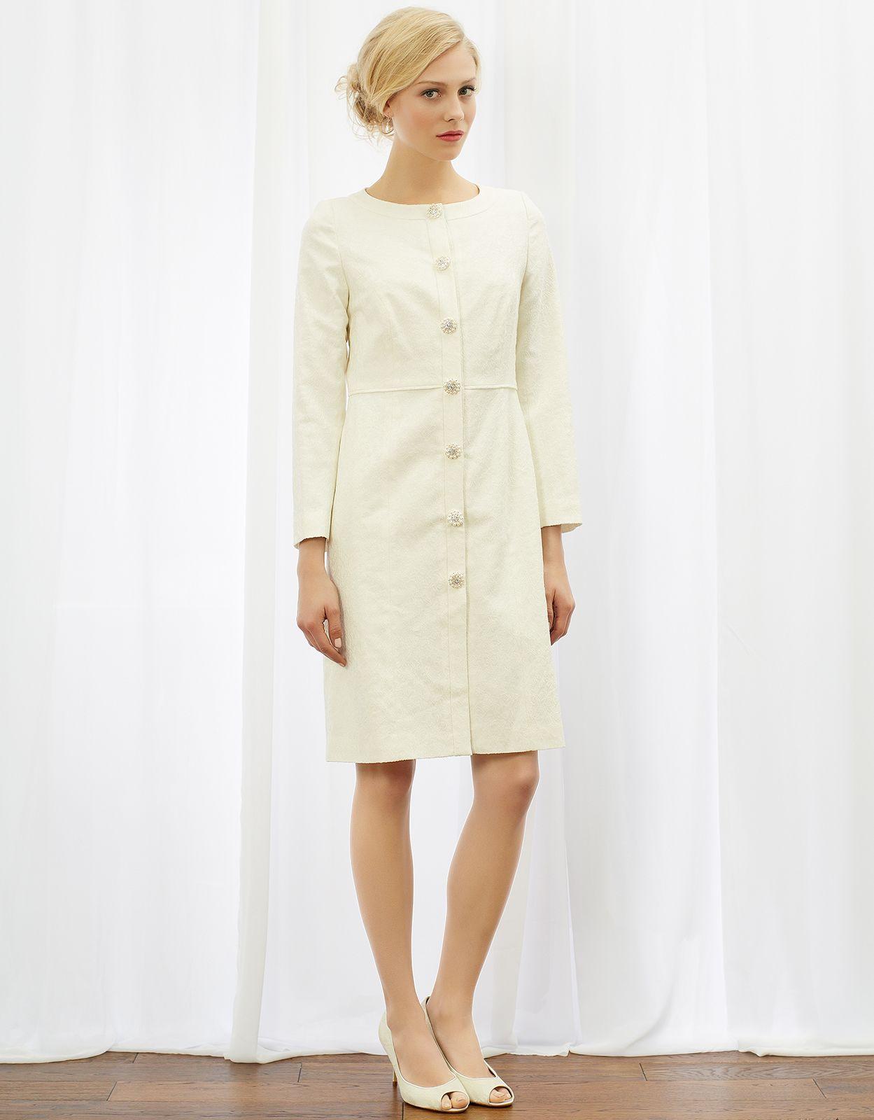 Jackie Jacquard Coat