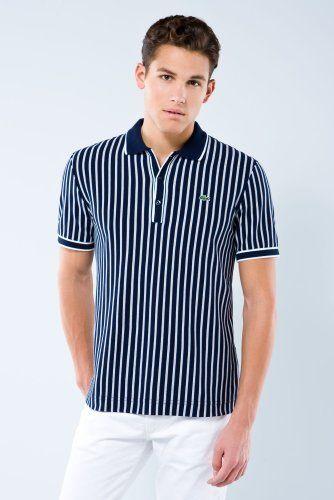Short Sleeve Vertical Stripe Polo Polo T Shirts Polo Mens Polo Shirts