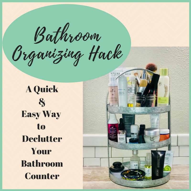 Quick & Easy Bathroom Counter Organization Hack