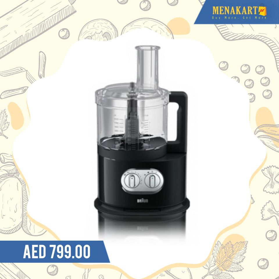 Braun food processor 1000 watts with spin juicer fp 5160