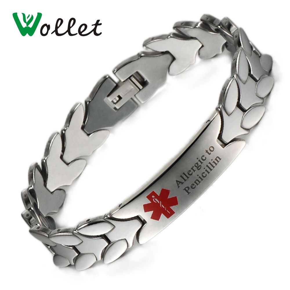 links en bracelets carbide s cross magnetic faceted tungsten men bracelet