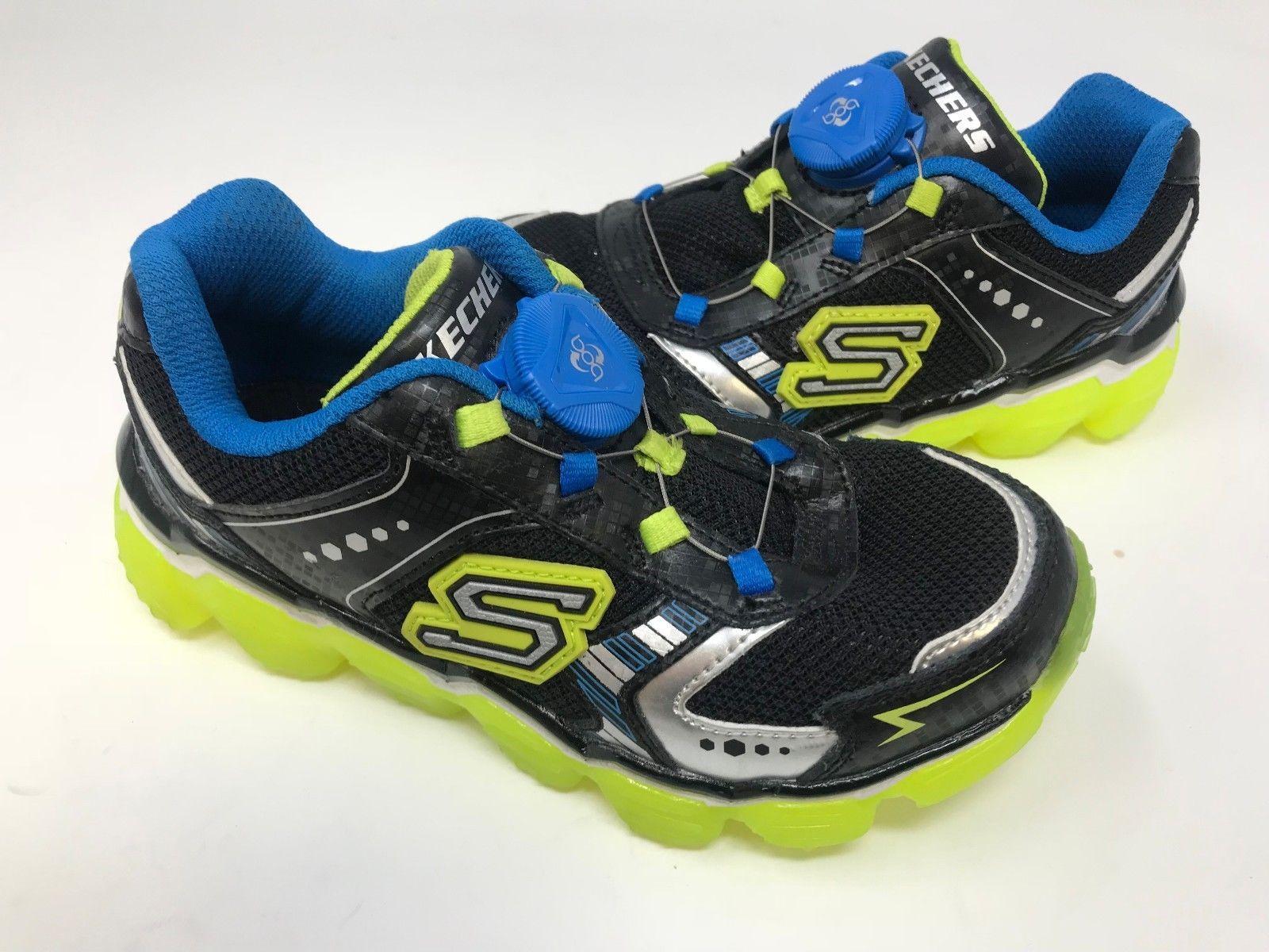 b1f7ec830262 Skechers Youth Boy s SKECH-AIR EXPLO Shoes Blk Blu Grn  97420L 171E lz  (eBay Link)