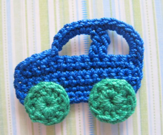 Crochet Car Appliques by GoldenLucyCrafts on Etsy | crafts ...