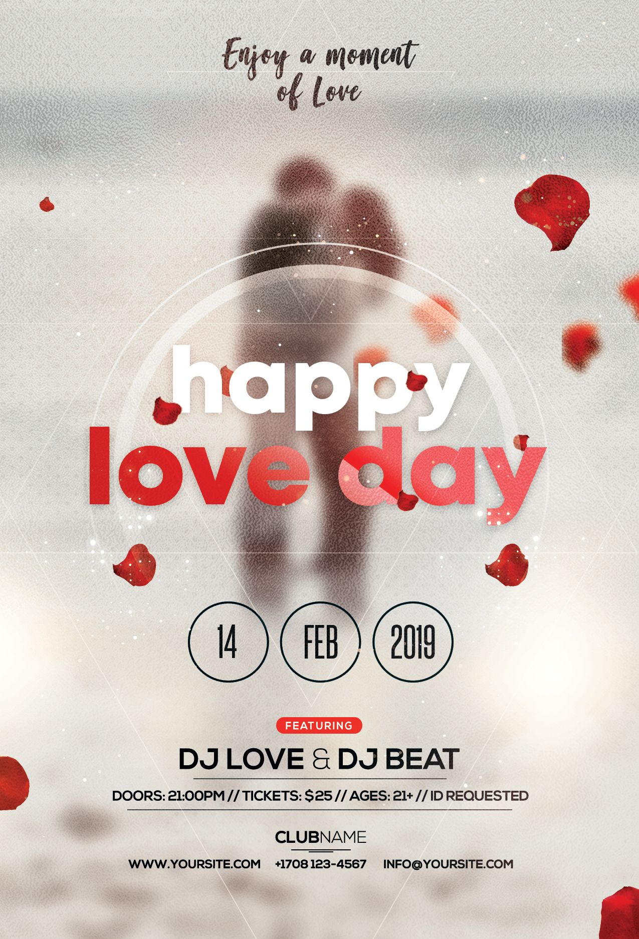 Happy Valentine S Day Free Psd Flyer Template Pixelsdesign Free Psd Flyer Psd Flyer Templates Event Flyer Templates